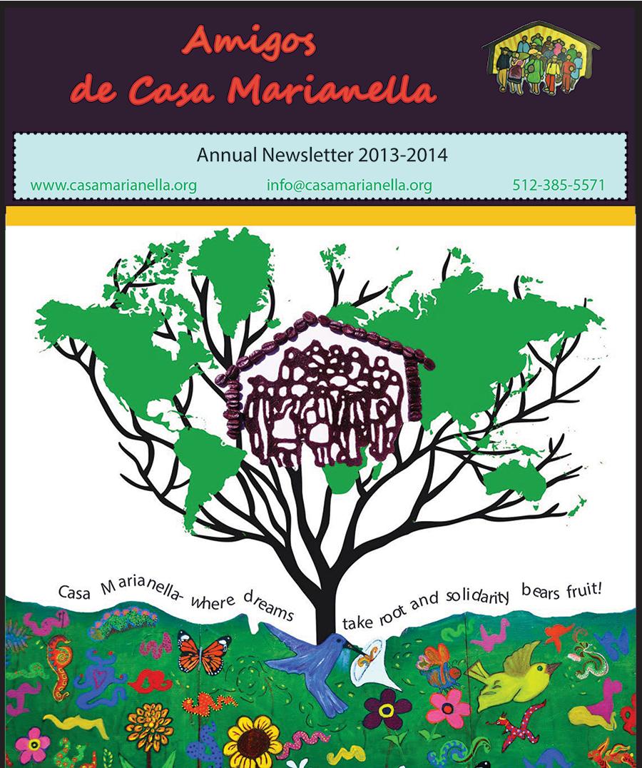casa marianella 2013 annual print newsletter